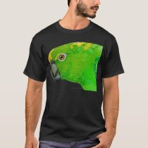 Yellow Nape Amazon Parrot (dark design) T-Shirt