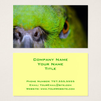Yellow-Naped Amazon Parrot by Shirley Taylor Business Card