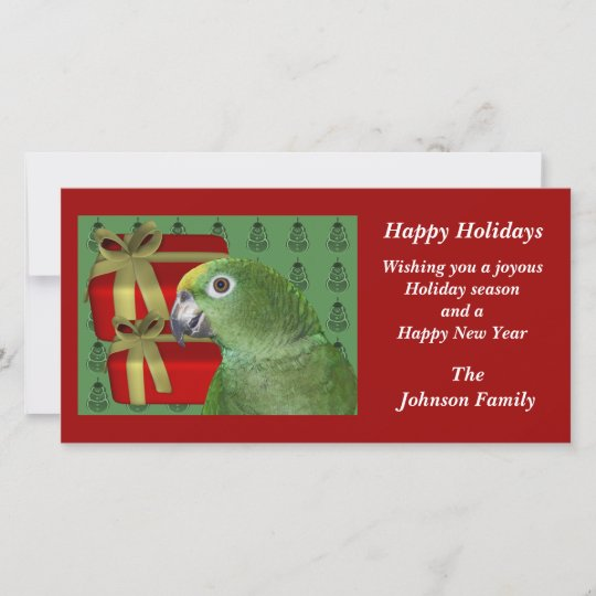 Yellow naped amazon parrot christmas holiday card zazzle yellow naped amazon parrot christmas holiday card m4hsunfo