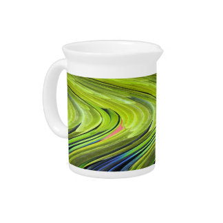 Yellow-Naped Amazon Parrot Feathers by STaylor Beverage Pitcher
