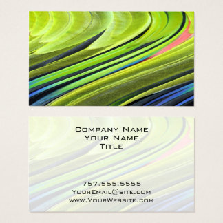 Yellow-Naped Amazon Parrot Feathers by STaylor Business Card