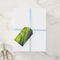 Yellow-Naped Amazon Parrot Feathers by STaylor Gift Tags