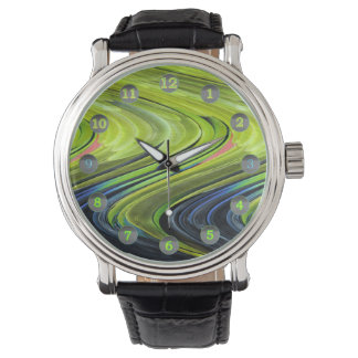 Yellow-Naped Amazon Parrot Feathers by STaylor Wristwatch