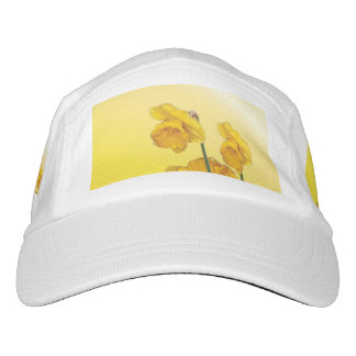 Yellow Narcissus Daffodil  Retro Vintage look Headsweats Hat