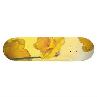 Yellow Narcissus Daffodil Skateboard