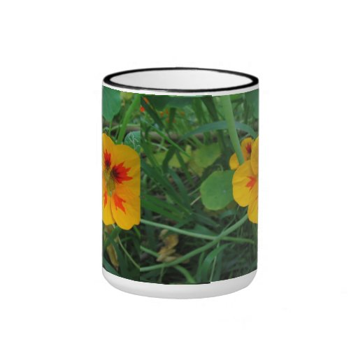 Yellow Nasturtiums Flower Ringer Coffee Mug