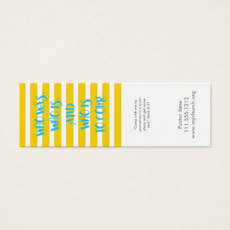Yellow Nautical Striped Promise Business Card