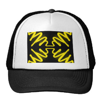 Yellow Neon 8 on a Black Field _ Urban ART Trucker Hat