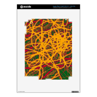 Yellow neon chaos decal for iPad 3