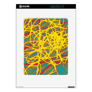Yellow neon chaos decal for the iPad