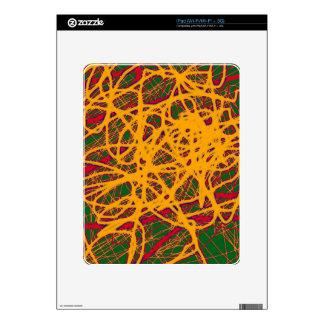 Yellow neon chaos iPad decals
