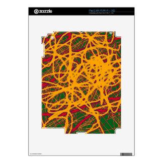 Yellow neon chaos skin for the iPad 2