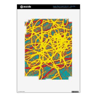 Yellow neon chaos skins for iPad 3
