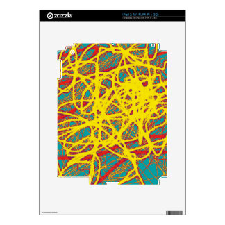 Yellow neon chaos skins for the iPad 2