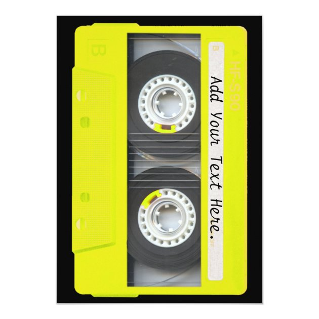Cassette Tape Invitation with luxury invitations layout