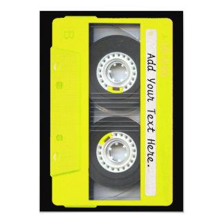 Yellow Neon Customizable Cassette Tape Custom Announcements