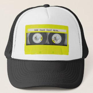 Yellow Neon Customizable Cassette Tape Trucker Hat