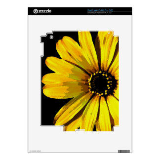 Yellow Neon Daisy Decals For The iPad 2