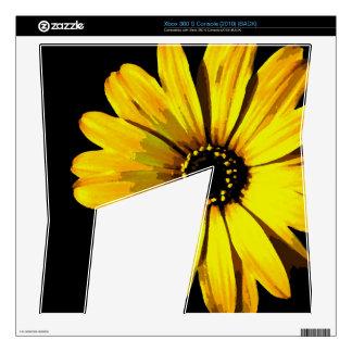 Yellow Neon Daisy Xbox 360 S Skin