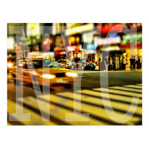 Yellow New York City Taxi Postcard