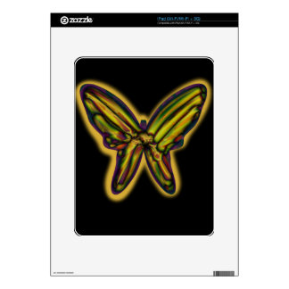 Yellow night butterfly decals for the iPad