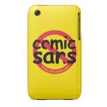 Yellow No Comic Sans iPhone 3 Case-Mate Cases