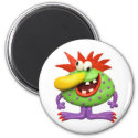 Yellow Nose Monster 2 Inch Round Magnet