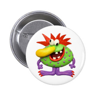 Yellow Nose Monster Buttons