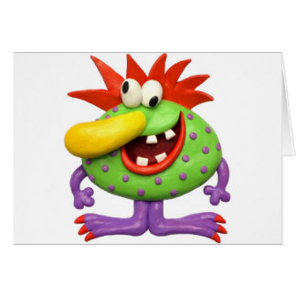 Yellow Nose Monster Greeting Card