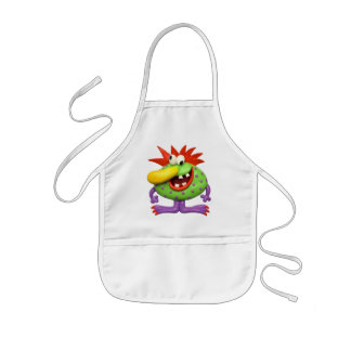 Yellow Nose Monster Kids' Apron