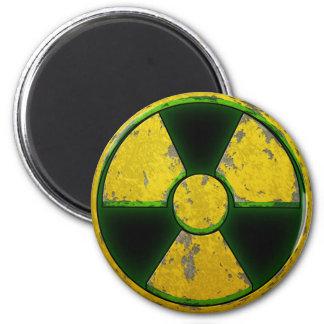 Yellow Nuke 2 Inch Round Magnet
