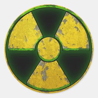 Yellow Nuke Classic Round Sticker