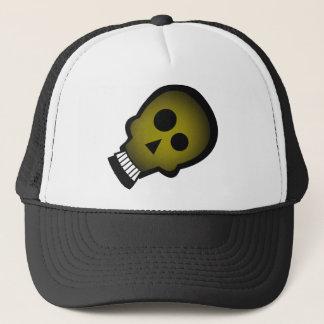 YELLOW NUTTY SKULL TRUCKER HAT