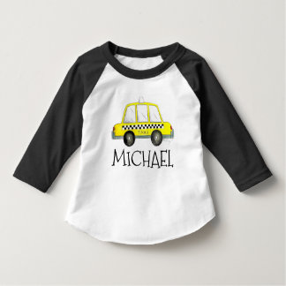 Yellow NYC New York Taxi Car Cab Personalized Tee