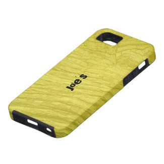 Yellow Oak Bark iPhone 5 Covers