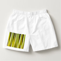 Yellow Ochre and Brown Stripy Lines Pattern Boxers