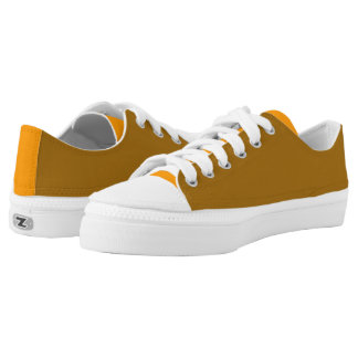Yellow Ochre And Orange Printed Shoes