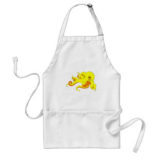Yellow Octopus Adult Apron