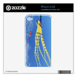 Yellow Octopus Kite Skins For iPhone 4