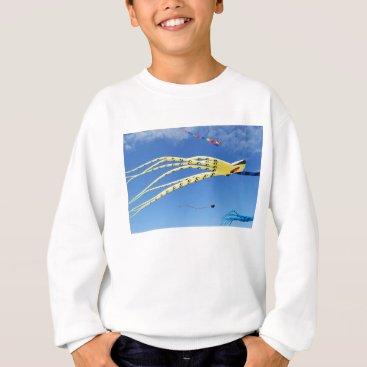 Beach Themed Yellow Octopus Kite Sweatshirt