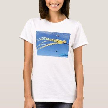 Beach Themed Yellow Octopus Kite T-Shirt