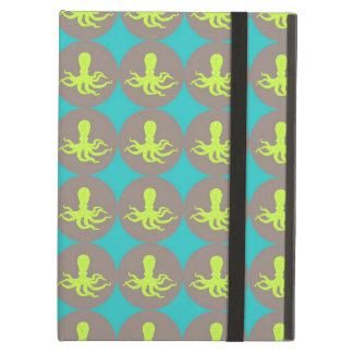 Yellow octopus pattern case for iPad air