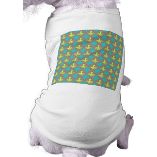 Yellow octopus pattern dog clothes