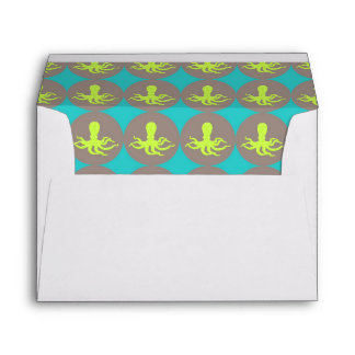 Yellow octopus pattern envelope