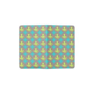 Yellow octopus pattern pocket moleskine notebook