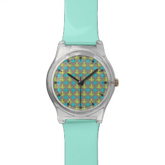 Yellow octopus pattern wristwatches