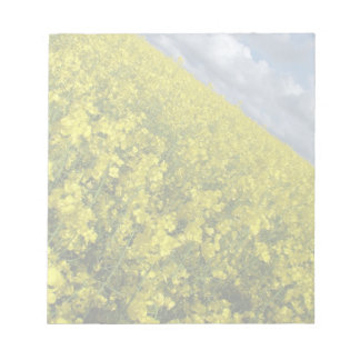 Yellow Oilseed agaisnt blue and cloudy sky Memo Note Pad