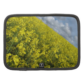 Yellow Oilseed agaisnt blue and cloudy sky Folio Planners