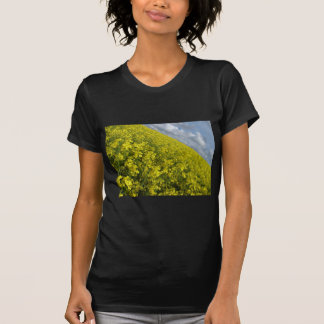 Yellow Oilseed agaisnt blue and cloudy sky Shirts
