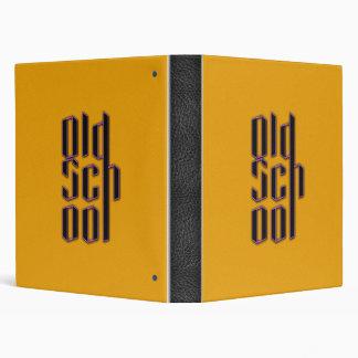 Yellow Old School 3 Ring Binder